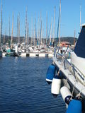 Sailboat marina Stock Photo