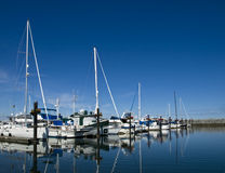 Sailboat marina Stock Photos