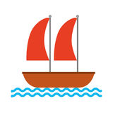 Sailboat marine isolated icon Royalty Free Stock Photography