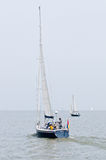Sailboat in Marken lake Royalty Free Stock Image