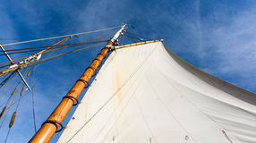 Sailboat mast. Against a blue sky Stock Photography