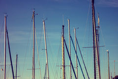 Sailboat mast Royalty Free Stock Image