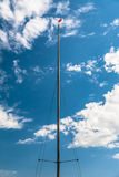 Sailboat Mast Blue Sky And Clouds Stock Image
