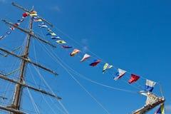 Sailboat mast Royalty Free Stock Photography