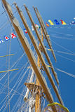 Sailboat mast Royalty Free Stock Photography