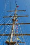 Sailboat mast Royalty Free Stock Image