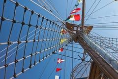 Sailboat mast Stock Photo