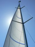 Sailboat mast and rigging Royalty Free Stock Photo