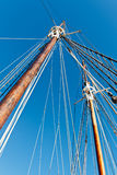 Sailboat mast and Rope Royalty Free Stock Photography