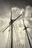 Sailboat masts Stock Images
