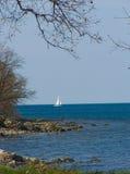 Sailboat in the Mediterranean Stock Image