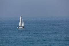 Sailboat in the Mediterranean sea Ashkelon Israel Stock Photos