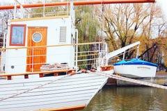 Sailboat `Meridian`. Beautiful sailboat `Meridian` in Lithuania Stock Image