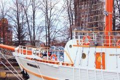 Sailboat `Meridian`. Beautiful sailboat `Meridian` in Lithuania Stock Photo