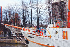 Sailboat `Meridian`. Beautiful sailboat `Meridian` in Lithuania Royalty Free Stock Images