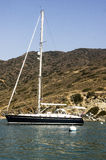 Sailboat Moored at Catalina Harbor Royalty Free Stock Photos