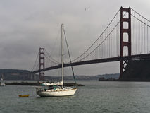 Sailboat moored in the San Francisco Bay Stock Photo