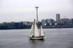 Sailboat Near Seattle Washington Stock Images