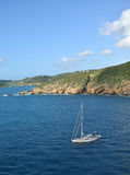 Sailboat near St Thomas USVI Royalty Free Stock Photos