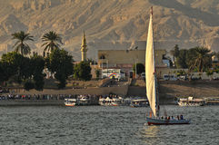 Sailboat on the Nile stock photo