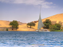 Sailboat on Nile Stock Images