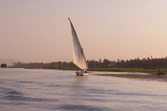 Sailboat on Nile River Royalty Free Stock Photography