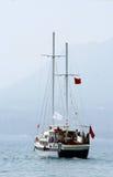 Sailboat no mar Foto de Stock