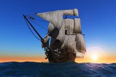 Sailboat no mar. ilustração do vetor