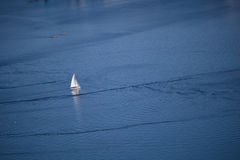 Sailboat on ocean Stock Image