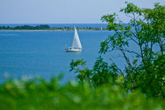 Sailboat on the ocean Royalty Free Stock Images