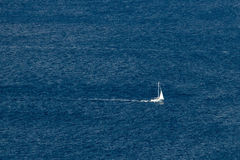 Sailboat on open sea Royalty Free Stock Photography