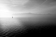 Sailboat on Open Water Stock Photo