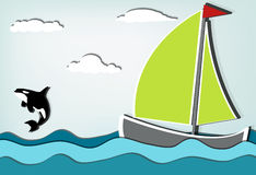 Sailboat orca_II Royalty Free Stock Photo
