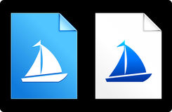 Sailboat on Paper Set Royalty Free Stock Images