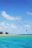 Sailboat in Paradise Royalty Free Stock Image