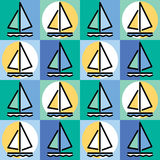 Sailboat Pattern Stock Photos