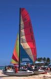 Sailboat At Playa Del Este Cuba Royalty Free Stock Photography