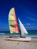 Sailboat At Playa Del Este Cuba Royalty Free Stock Images