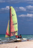 Sailboat At Playa Del Este Cuba Stock Images