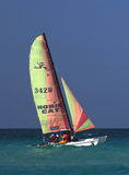Sailboat At Playa Del Este Cuba Stock Photography