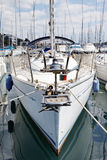 Sailboat in port Royalty Free Stock Images
