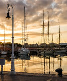 Sailboat port Stock Images