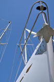 Sailboat prow. The prow o a sailing boat in a port Stock Photo