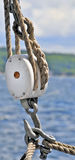 Sailboat Pulley Stock Photo
