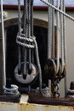 Sailboat Pulleys Stock Image