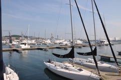 Sailboat. Qingdao blue sea sailboat Stock Photography