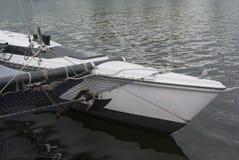 Sailboat quayside black lake detail boat closeup Royalty Free Stock Image