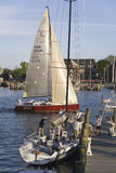 Sailboat race at Yacht Club in Annapolis Royalty Free Stock Photos