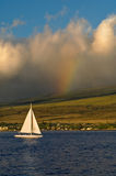 Sailboat and Rainbow royalty free stock images