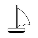 Sailboat recreation travel line Stock Photography